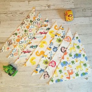 Other - Boy 7 pack of baby bandana bibs